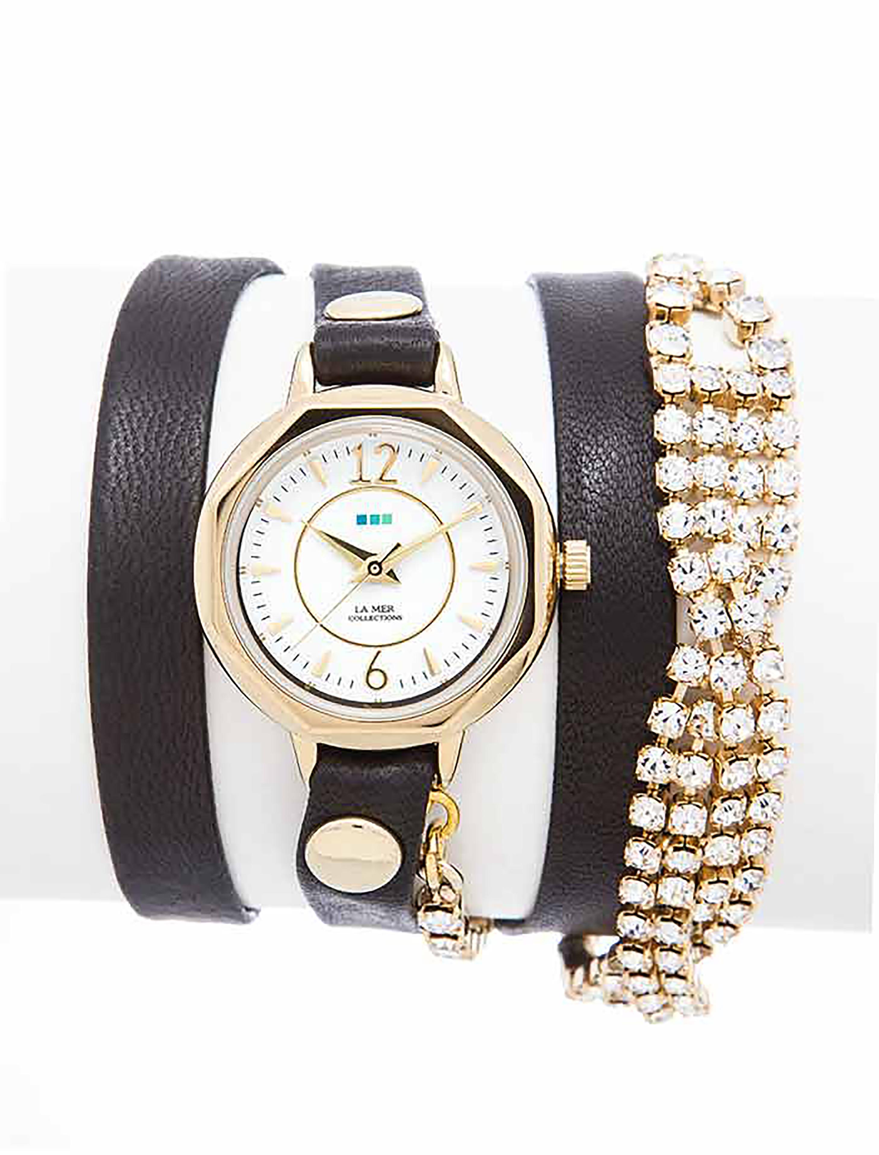 Часы наручные La Mer Collections Crystal Del Mar Mississippi Gold Vintage Bracelet