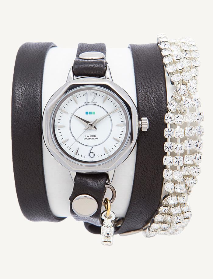 Часы наручные La Mer Collections Crystal Del Mar Mississippi Silver Vintage Bracelet