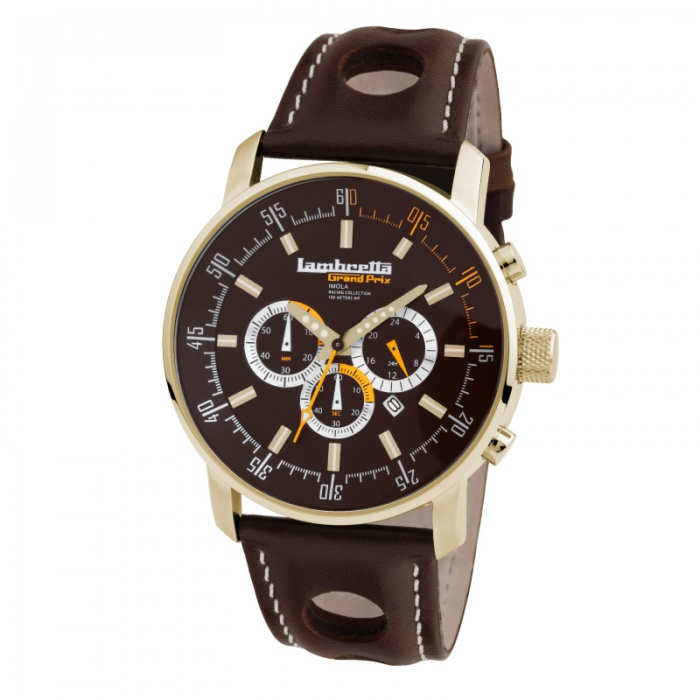 Imola Gold Leather Brown