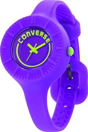 Часы наручные Converse The Skinny ?-PurpleЧасы Converse. Производитель: Converse (США).Механизм: Кварцевый ST621 (Япония).Размер циферблата: 3,1/3,1/0,9 см.Материал циферблата: Силикон.Стекло: Минеральное.Материал ремешка: Силикон.Размер ремешка: 19/0,9 см.Водозащита: 5 ATM. Избегать контакта с горячей водой и паром.Гарантия: 1 год.<br><br>Цвет: фиолетовый<br>Механизм: кварцевый<br>Материал корпуса: силикон<br>Ремешок: силикон<br>Форма корпуса: Круг<br>Пол: женские