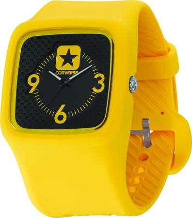 Часы наручные Converse Clocked Perfed YellowЧасы Converse. Производитель: Converse (США). Механизм: Кварцевый Miyota 2035 (Япония). Размер циферблата: 4,1/4,1/1 см. Материал циферблата: Силикон. Стекло: Минеральное. Размер ремешка: 20,5/3,4 см. Материал ремешка: Силикон. Водозащита: 5 АТМ. Избегать контакта с горячей водой и паром. Особенности: светящиеся стрелки. Гарантия: 1 год.<br><br>Цвет: мультиколор<br>Механизм: кварцевый<br>Материал корпуса: силикон<br>Ремешок: силикон<br>Форма корпуса: Квадрат<br>Пол: унисекс