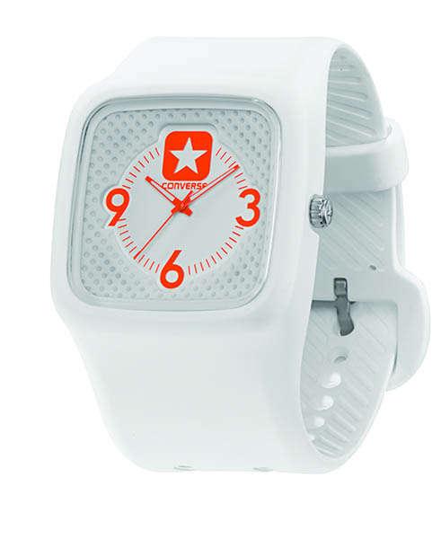 Часы наручные Converse Clocked Perfed WhiteЧасы Converse. Производитель: Converse (США). Механизм: Кварцевый Miyota 2035 (Япония). Размер циферблата: 4,1/4,1/1 см. Материал циферблата: Силикон. Стекло: Минеральное. Размер ремешка: 20,5/3,4 см. Материал ремешка: Силикон. Водозащита: 5 АТМ. Избегать контакта с горячей водой и паром. Особенности: светящиеся стрелки. Гарантия: 1 год.<br><br>Цвет: белый<br>Механизм: кварцевый<br>Материал корпуса: силикон<br>Ремешок: силикон<br>Форма корпуса: Квадрат<br>Пол: женские