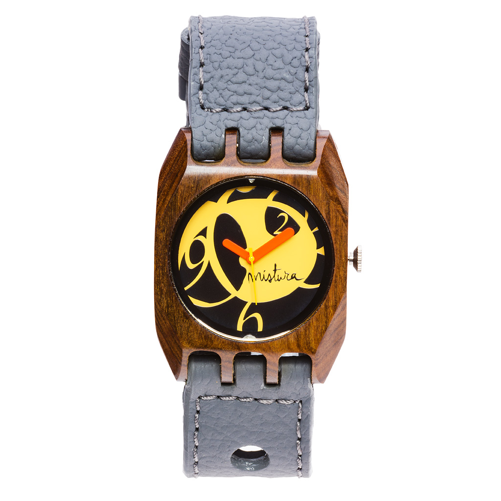 Часы наручные Mistura Volkano Grey Pui Yellow