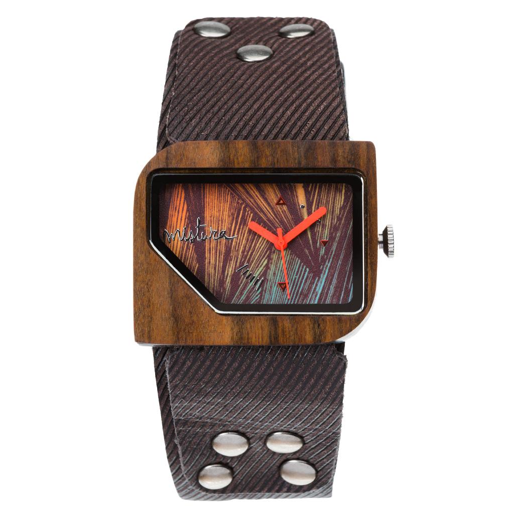 Часы наручные Mistura PELLICANO Coffee Jean/Malibu Orange
