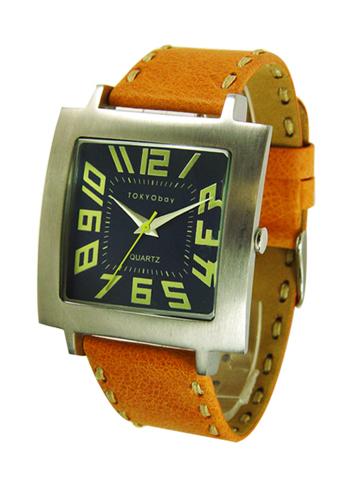 Часы наручные TOKYObay Tram Tangerine WatchesЧасы TOKYObay <br>Производитель: TOKYObay Inc. (США)<br>Механизм: кварцевый MIYOTA (Япония)<br>Корпус: 38/38/10 мм, металл(не содержит никель), задняя крышка из нержавеющей стали.<br>Стекло: ударопрочный оптический пластик <br>Размер ремешка: 20,5/2,2 см <br>Материал ремешка: натуральная кожа<br>Гарантия: 1 год<br><br>Механизм: кварцевый<br>Форма корпуса: Квадрат<br>Пол: унисекс<br>Пол: женские<br>Материал корпуса: металл<br>Ремешок: натуральная кожа