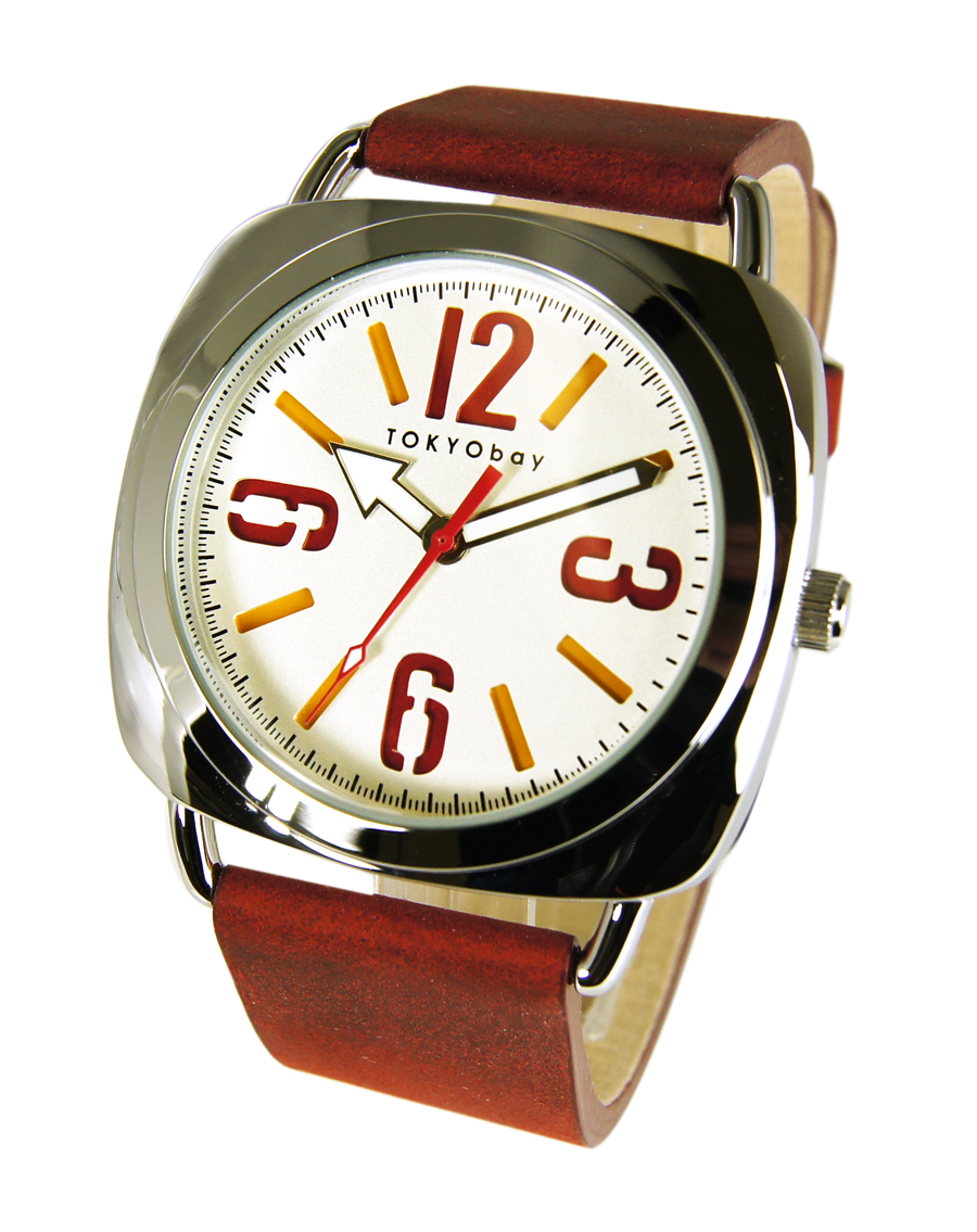 Часы наручные TOKYObay Strata RedЧасы TOKYObay <br>Производитель: TOKYObay Inc. (США)<br>Механизм: кварцевый MIYOTA (Япония)<br>Корпус: 39/39/8 мм, металл(не содержит никель), задняя крышка из нержавеющей стали.<br>Стекло: ударопрочный оптический пластик <br>Размер ремешка: 20/2,1 см <br>Материал ремешка: натуральная кожа<br>Гарантия: 1 год<br><br>Цвет: красный<br>Механизм: кварцевый<br>Форма корпуса: Круг<br>Пол: унисекс<br>Материал корпуса: металл<br>Ремешок: натуральная кожа