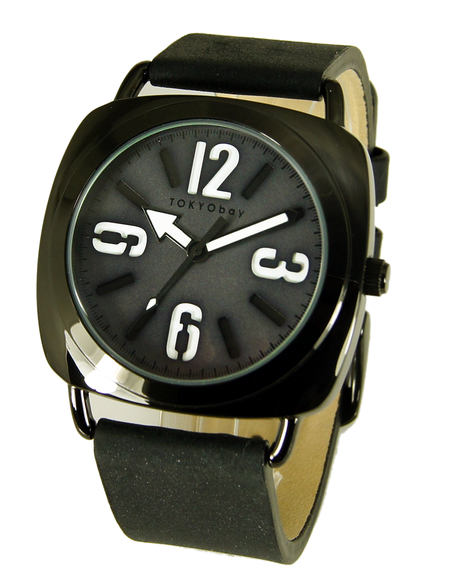 Часы наручные TOKYObay Strata BlackЧасы TOKYObay <br>Производитель: TOKYObay Inc. (США)<br>Механизм: кварцевый MIYOTA (Япония)<br>Корпус: 39/39/8 мм, металл(не содержит никель), задняя крышка из нержавеющей стали.<br>Стекло: ударопрочный оптический пластик <br>Размер ремешка: 20/2,1 см <br>Материал ремешка: натуральная кожа<br>Гарантия: 1 год<br><br>Цвет: черный<br>Механизм: кварцевый<br>Форма корпуса: Круг<br>Пол: мужские<br>Материал корпуса: металл<br>Ремешок: натуральная кожа