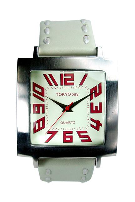 Часы наручные TOKYObay Tram IvoryЧасы TOKYObay <br>Производитель: TOKYObay Inc. (США)<br>Механизм: кварцевый MIYOTA (Япония)<br>Корпус: 38/38/10 мм, металл(не содержит никель), задняя крышка из нержавеющей стали.<br>Стекло: ударопрочный оптический пластик <br>Размер ремешка: 20,5/2,2 см <br>Материал ремешка: натуральная кожа<br>Гарантия: 1 год<br><br>Цвет: белый<br>Механизм: кварцевый<br>Форма корпуса: Квадрат<br>Пол: унисекс<br>Материал корпуса: металл<br>Ремешок: натуральная кожа