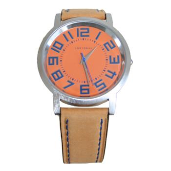 Часы наручные TOKYObay Track OrangeЧасы TOKYObay <br>Производитель: TOKYObay Inc. (США)<br>Механизм: кварцевый MIYOTA (Япония)<br>Корпус: 40/40/7 мм, металл(не содержит никель), задняя крышка из нержавеющей стали.<br>Стекло: ударопрочный оптический пластик <br>Размер ремешка: 20,5/1,9 см <br>Материал ремешка: натуральная кожа<br>Гарантия: 1 год<br><br>Механизм: кварцевый<br>Форма корпуса: Круг<br>Пол: унисекс<br>Пол: женские<br>Цвет: оранжевый<br>Материал корпуса: металл<br>Ремешок: натуральная кожа